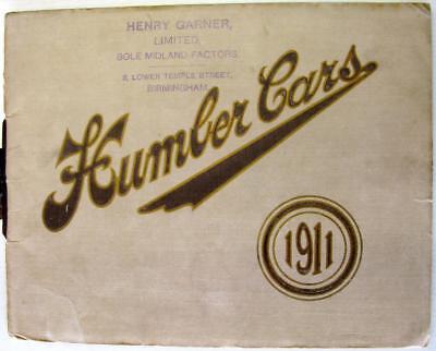HUMBER CARS Range 1911 Original Car Sales Brochure