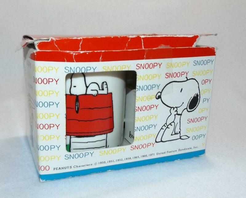 IOB Vintage Snoopy Peanuts Cup Toothbrush Holder PecoWare Melamine Charlie Brown