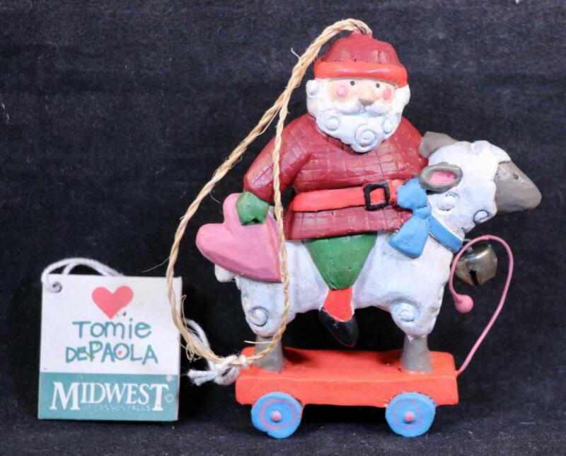 Tomie Depaola Midwest of Cannon Falls Santa Claus Riding Sheep Ornament