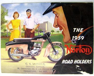 NORTON Range 1959 inc Manx Original Motorcycle Sales Brochure