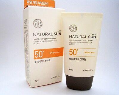 [THE FACE SHOP] Natural Sun Super  Perfect  SUN Cream  SPF 50+   PA+++  / (The Face Shop Super Perfect Sun Cream)