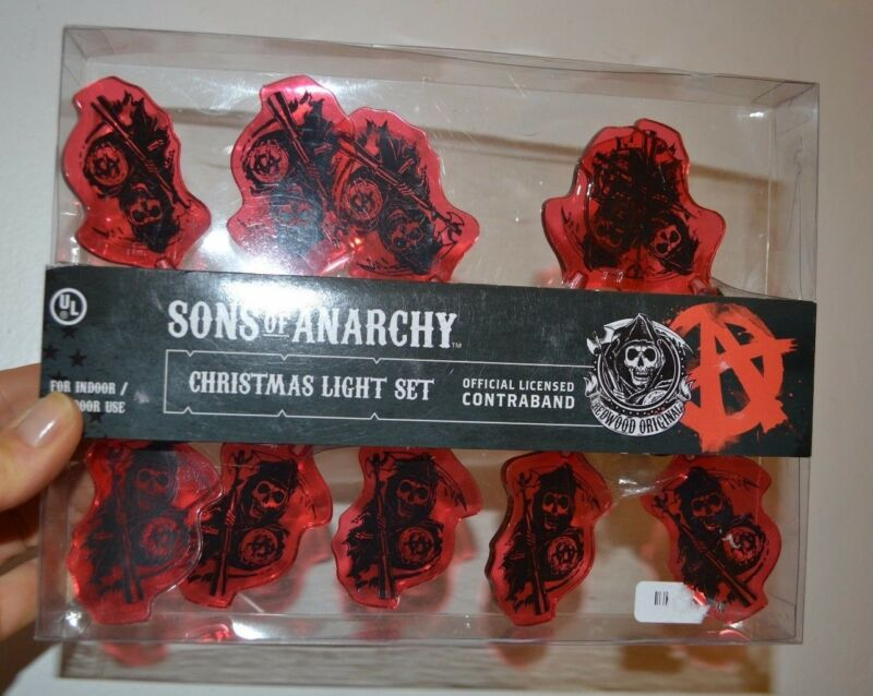 Sons of Anarchy Christmas Light Set 10 String Light Set Officially Licensed