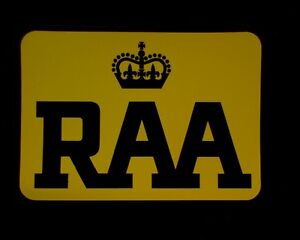 LARGE  Royal Automobile Association RAA service vehicle DOOR STICKERS