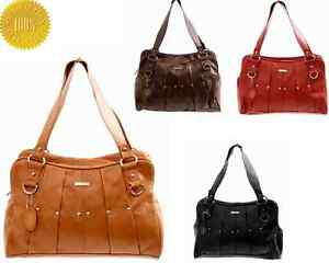 New-REAL-LEATHER-Vintage-Handbag-Womens-Tote-Shoulder-Ladies-Bags-Black-Red-Tan