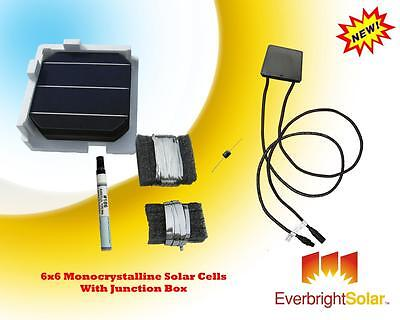 500 Watt DIY Solar 6x6 Mono Cells DIY Panel Kit w/Accessories FREE Junction Box on Rummage