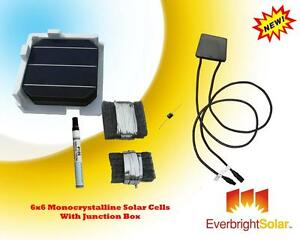 500-Watt-DIY-Solar-6x6-Mono-Cells-DIY-Panel-Kit-w-Accessories-FREE-Junction-Box