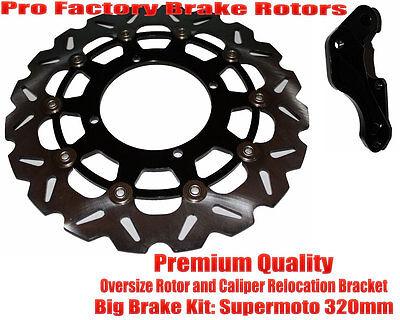 Ktm 300 Exc Sx Sxs Xc Front Brake Oversize Supermoto Disc Rotor 320mm+ Bracket on sale