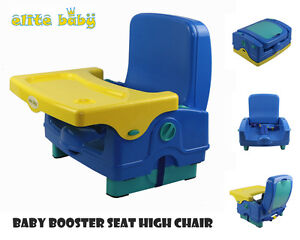 New Elite baby Toddler Portable Booster seat high chair feeding travel 2012 blue
