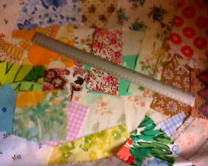 Material off-cuts/scraps ideal for patchwork or dolls house crafts