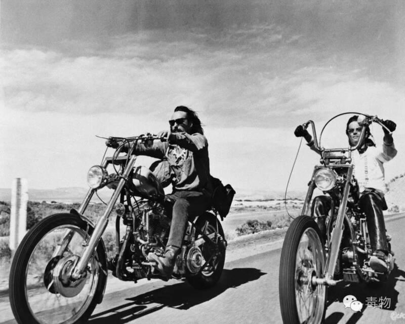 Easy Rider Dennis Hopper Peter Fonda 1969 B&w 8x10 Photo Print