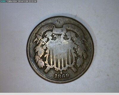 1869 TWO CENT   35-96