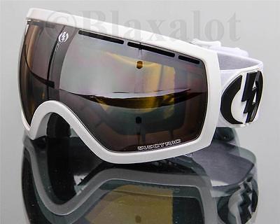 bf2f0bb4728 NEW ELECTRIC EG2.5 GOGGLES Gloss White Bronze-Silver Chrome Mirror Lens Ski  Snow