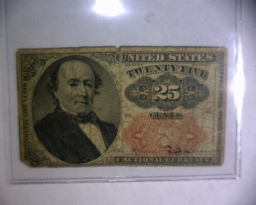 1874 25 Cent Fractional Currency United States Paper Money Note 25 CENT