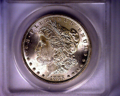 1885 ANACS HIT LIST 40 BLAST WHITE MINT STATE 62 VAM 22 MORGAN SILVER DOLLAR COIN 1885