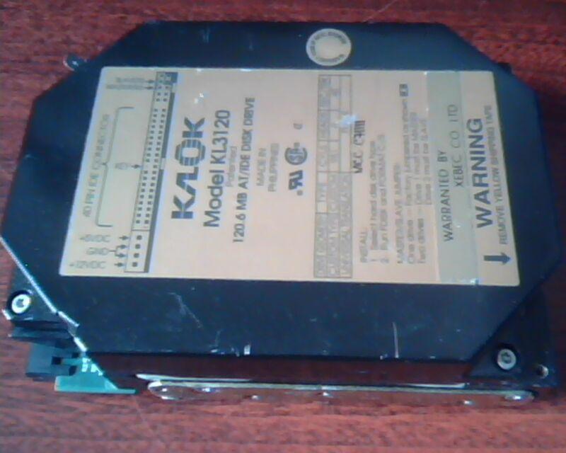 IDE Hard Disk Drive KALOK Klok KL3120 AT/IDE Xebec