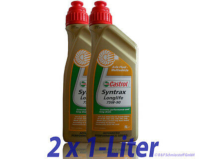 Castrol Syntrax Longlife 75W-90 2x1 Liter API GL-5 (ehe.SAF-XO) Getriebeöl