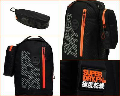 SUPERDRY MEN BOYS ZAC FRESHMAN BACKPACK PENCIL CASE SCHOOL GYM TRAVEL WORK BAG