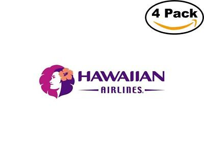 Airlines Hawaiian Airlines Logos 4 Stickers 4X4 Inches Sticker
