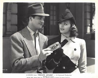 "Nancy Kelly, Robert Cummings, ""Private Affairs"" Movie Still"