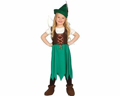 mädchenkostüm Mädchen Waldbanditin Outfit Guirca Mädchen Robin Hood Girl 191034 (Mädchen Kostüm Robin)