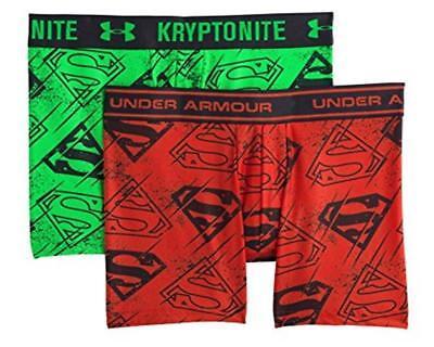 NWT $35 Under Armour Big Boys' Alter Ego Boxerjock Boxer Briefs Superman 2-Pack