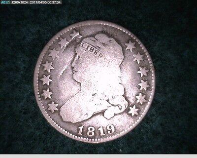 1819 25C Capped Bust Quarter ( 9-218 )