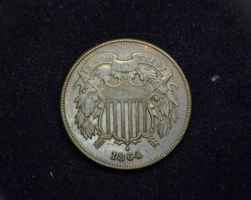 HS&C: 1864 Two Cent Piece Two Cent VF/XF