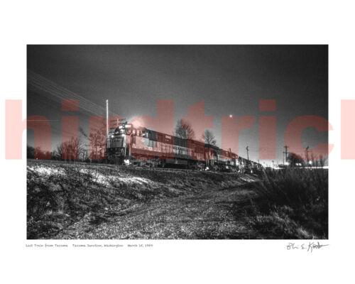 "Milwaukee Road The Last Train, 3/15/80, 16X20"" photo print by Kooistra"
