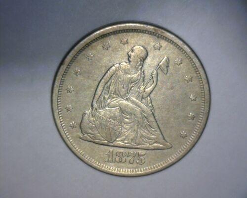 1875 S TWENTY CENT PIECE  **HIGH GRADE** E/F to A/U  BEEE-UUU-TIFUL *US  COIN *