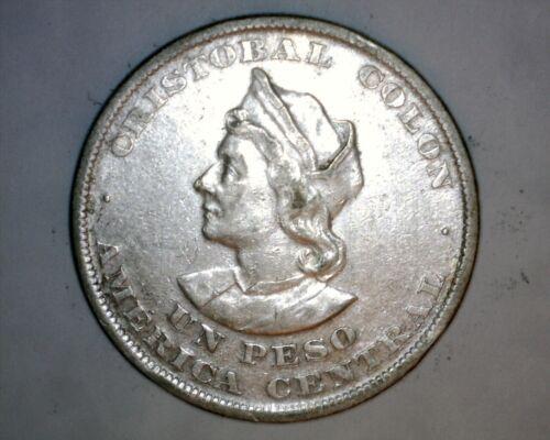 1893 Un Peso  El Salvador
