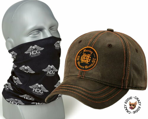 HOG Hat and  Eagle Face Mask Harley Davidson Owners Group Baseball Cap