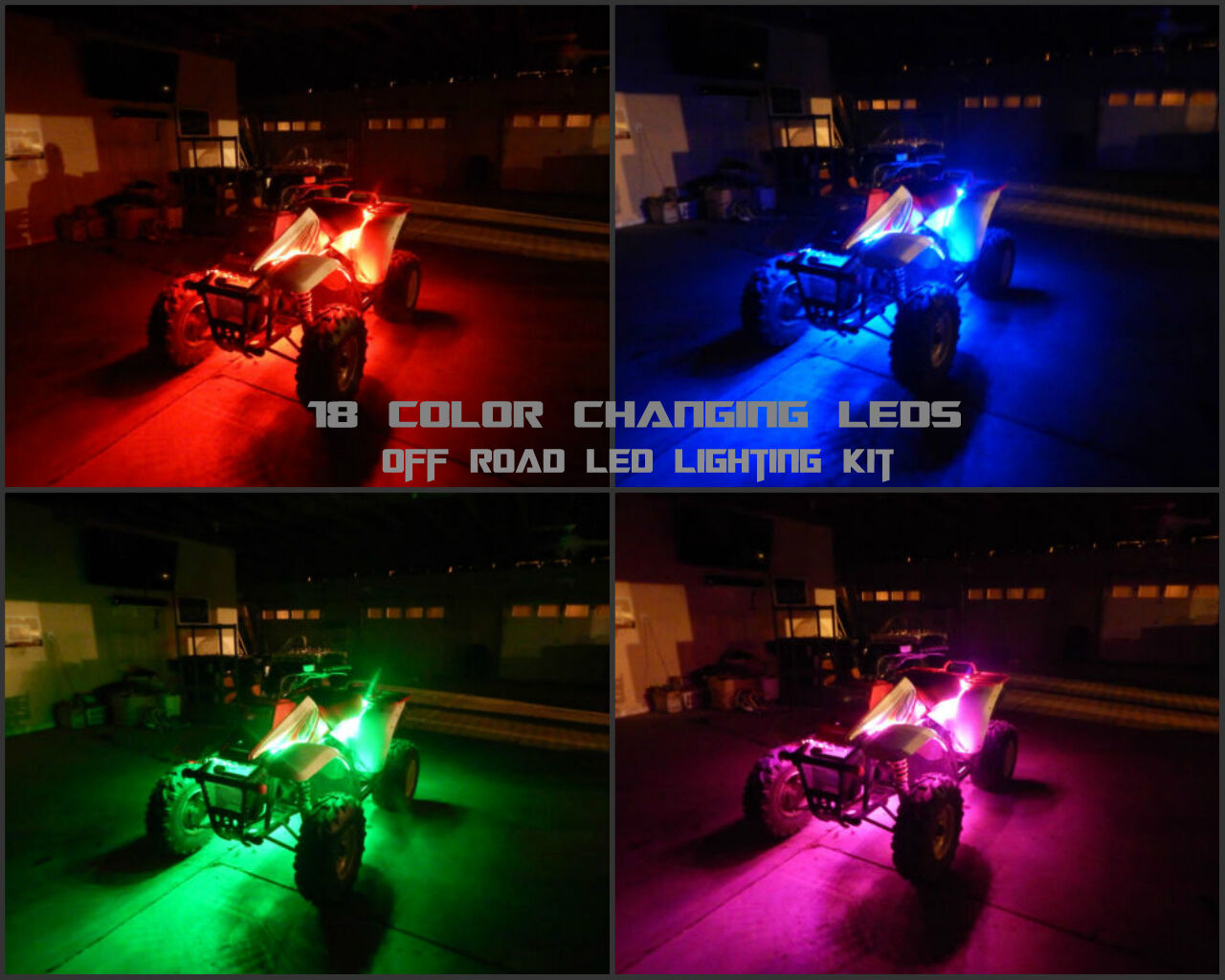 Wireless Remote 18 Color Led XC450 ATV UTV Quad 4 Wheeler 6pc Led Glow Kit