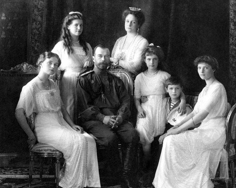 New 8x10 Photo: Last Tsar of Russia Nicholas II & Romanov Family, 1913