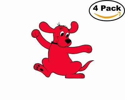 - Clifford the Big Red Dog 4 Stickers 4x4 Inches Cartoon Sticker Decal 12