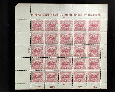 HS&C: Scott #630 MNH 1926 White plains souvenir sheet Choice VF/XF US Stamp