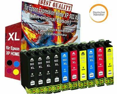 KIT 10 INK JET 502XL EPSON WorkForce WF-2865 DWF WF-2860 DWF