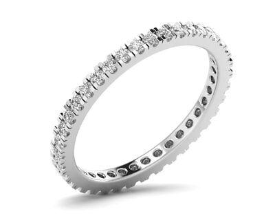 0.60CT Round Brilliant Cut Diamonds Full Eternity Wedding Ring in 9K White Gold