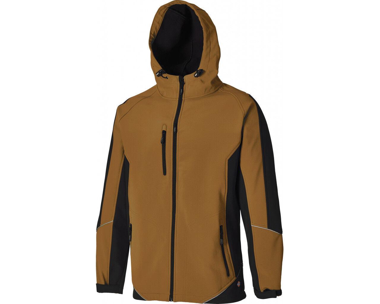 SPECIAL OFFER Dickies Khaki /& Black Waterproof 2 Tone Soft Shell Work Jacket