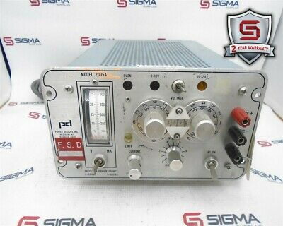 Power Designs 2005a Precision Power Source 0-20vdc 0-500ma