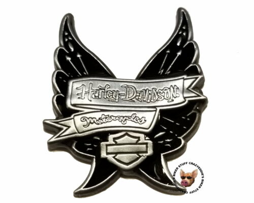 Harley Davidson® Banner with Wings Vest Pin with Bar & Shield Discontinued