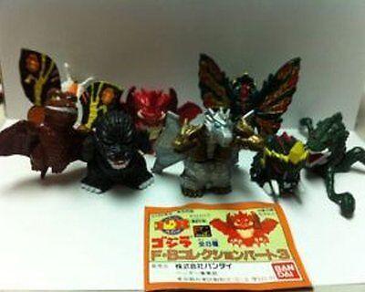 1995 Bandai SD Godzilla Gashapon Full set of 8 Figure Japan