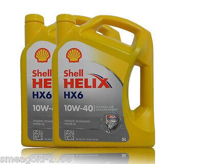 Shell Helix HX6 10W- 40,10W40  2x5 Liter Motorenöl, MB 229.3, VW 505 00