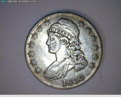 1833 CAPPED BUST HALF DOLLAR   3-68