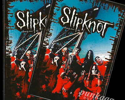 Slipknot Lot of 2 Band Stickers Vinyl Decal S/T 1999 Debut Wait & Bleed Ad Old