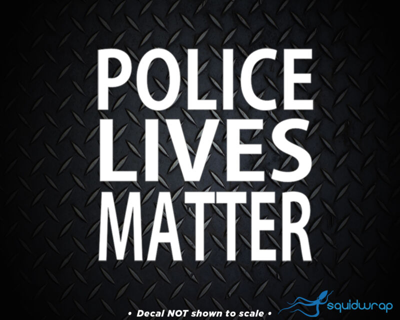 POLICE LIVES MATTER Vinyl Car Auto Laptop Decal - WHITE 5""