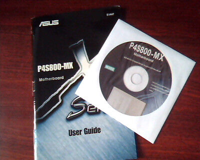 Asus P4s800 Mx Motherboard X Series User Guide And Support Cd Drivers E1447