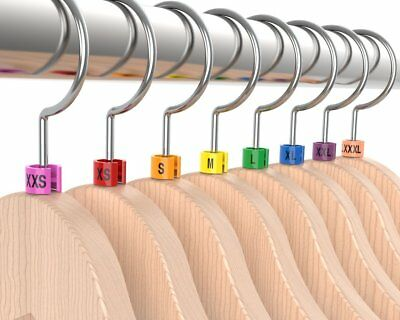 Colored Hanger Sizer Garment Markers Xxs-5xlplastic Size Marker Tags All Sizes