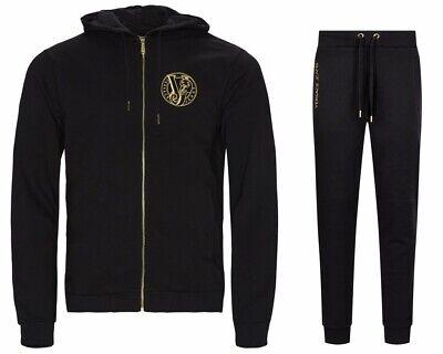 Versace Jeans B7GTB7FD Hooded Mens Tracksuit Black Jogsuit