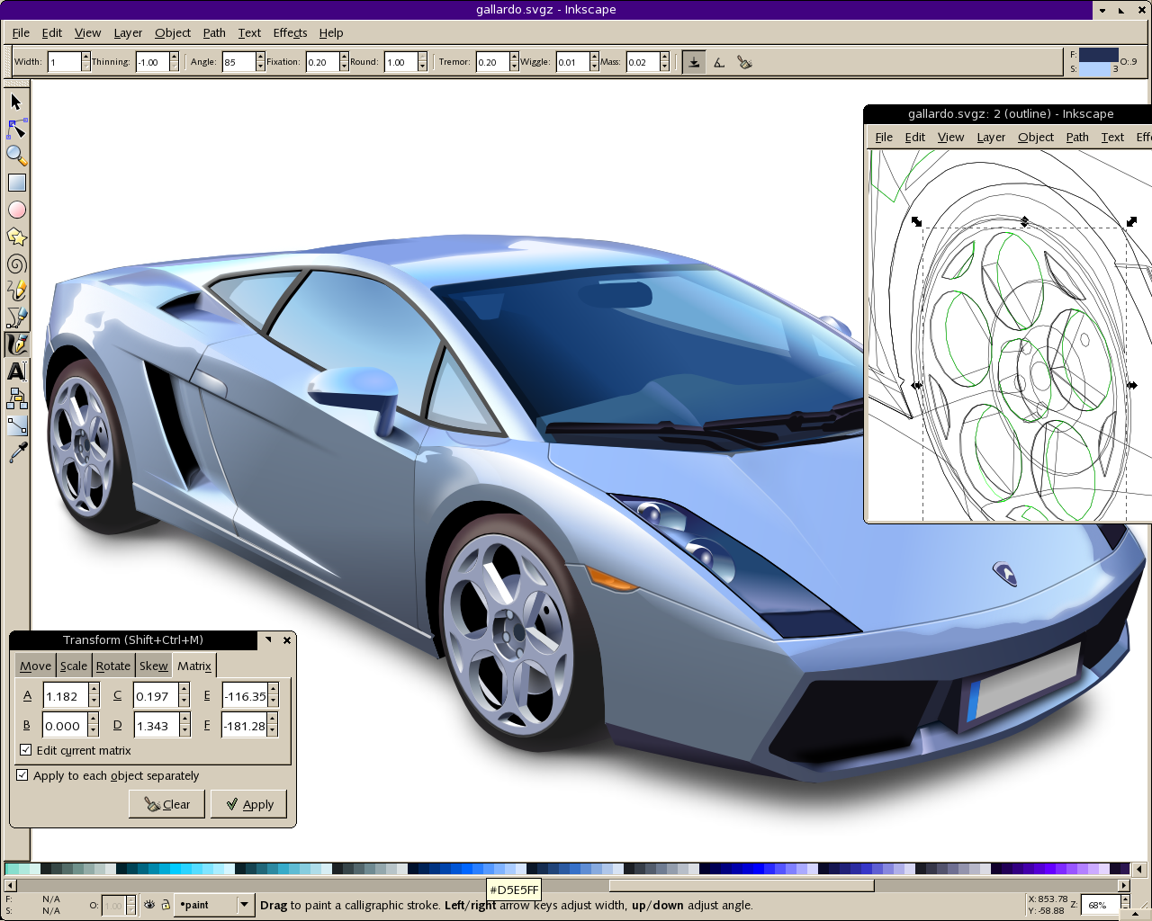 Inkscape Professional Drawing Software vector graphics for W