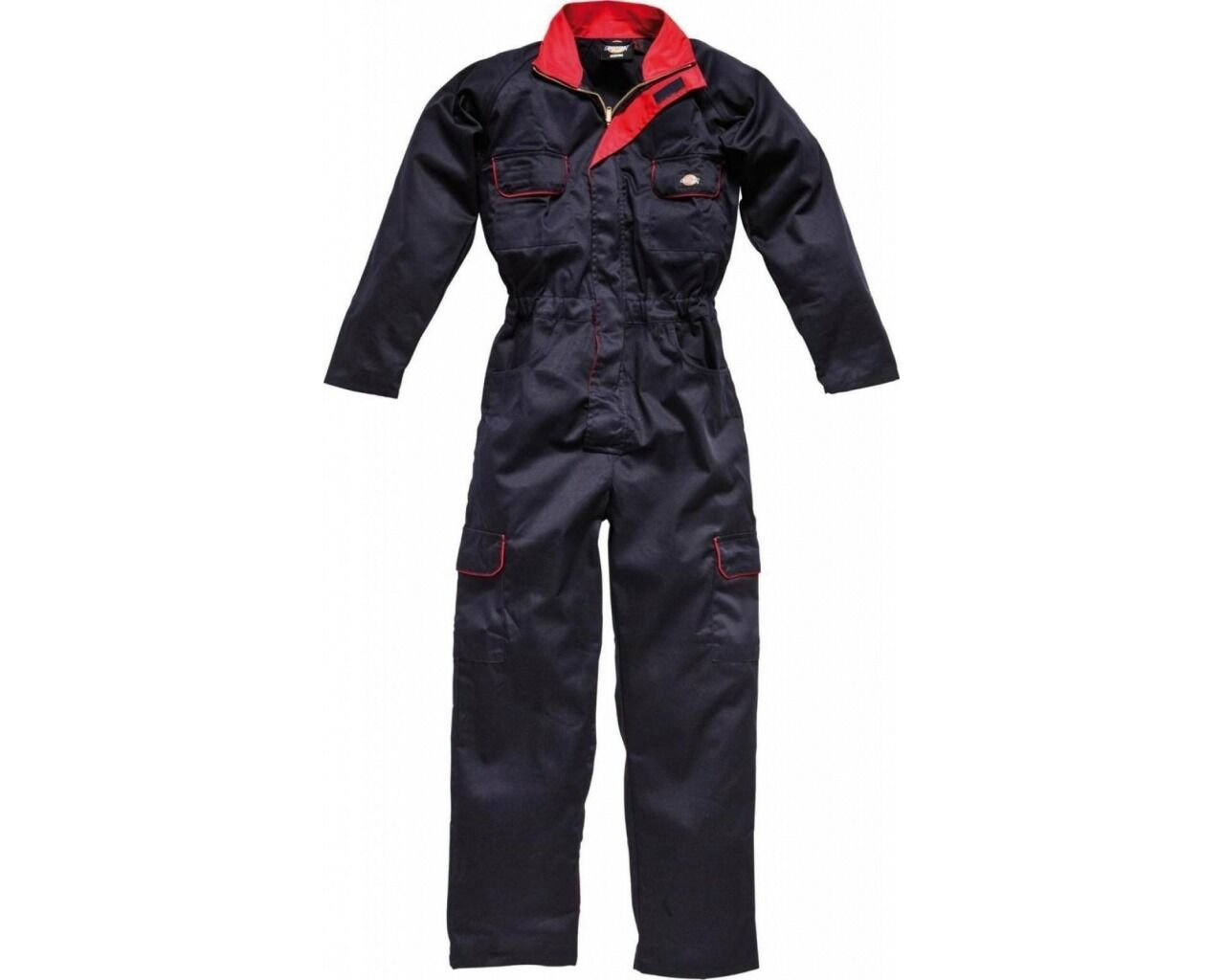 5c9299a5bbc Details about Dickies Ladies Overalls WD4839W Navy   Red Womens Boilersuit Coverall  Workwear